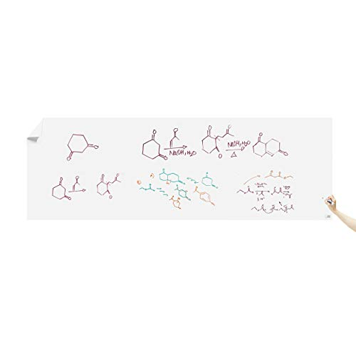 Think Board Premium Whiteboard Film, Peel and Stick, X-Large (White) (4'x12') XL Peel and Stick Dry Erase Board Wall Cling for Home and Office, Removable Wall Decals, Super Sticky, Stain-Proof -
