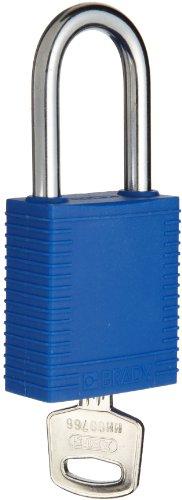 Brady Plastic Lockout/Tagout Padlock, Keyed Alike, 1-3/4