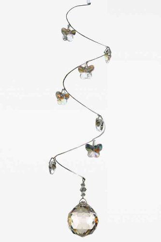 ea503a774 Swarovski Crystal Spiral Mobile 30mm Ball Butterfly Suncatcher Rainbow Maker:  Amazon.co.uk: Kitchen & Home
