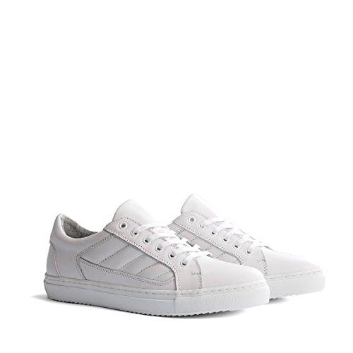 Travelin Nice Leather Low Damen Sneaker Leder | Schnürhalbschuhe Women | Freizeitschuhe | Lederschuhe in Weiss 41 EU