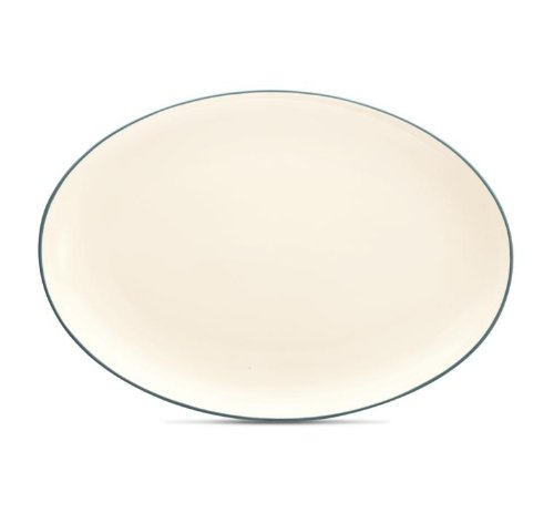 Noritake Colorwave Oval Platter, 16-Inch, Turquoise Blue