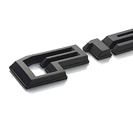 Black EmbRoom F150 Rear Tailgate Emblem 2015-2018 Badge 3D Nameplate Replacement for Ford F-150