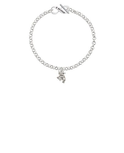 8 Silvertone Mini 3-D Elephant /& Beyond Infinity Toggle Chain Bracelet