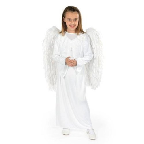 Guardian Angel Child Costumes (Angel Costume with Wings & Candle - Child Small by Fun Express)