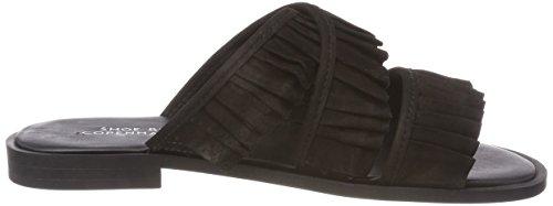 Black Femme Mules Shoe Halida Biz Chaussons Nubuck Noir S7azUya