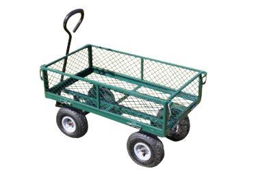Carrito de jardín grande con 4 ruedas y laterales abatibles - OFERTA: Amazon.es: Jardín