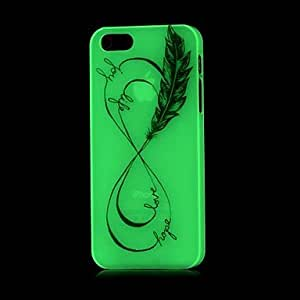 PEACH Infinity Pattern Glow in the Dark Hard Case for iPhone 4/4S