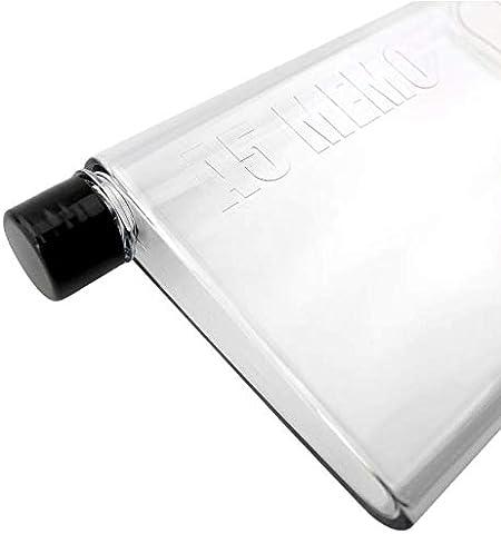 FEJK Botella de Agua de Cristal Jugo Deportivo Botellas de Agua Planas Taza de Vidrio Hervidor Taza portátil 750Ml