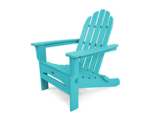 Trex Outdoor Furniture TXA53AR Cape Cod Folding Adirondack Chair, Aruba