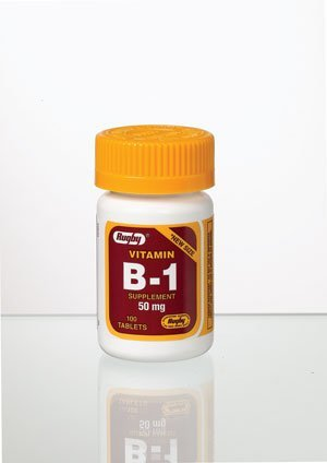 Rugby Vitamin B-1 100 Tabs Pack of 12 by Rugby