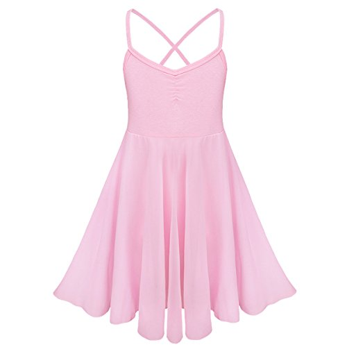 - iiniim Kids Girls Camisole Ballet Dance Leotard with Chiffon Skirt Empire Waist Lyrical Dress Dancewear Outfit