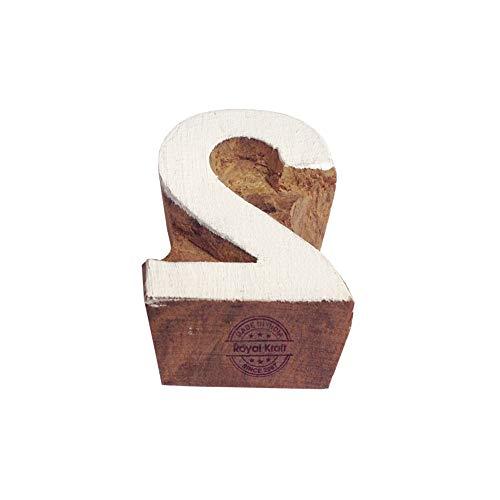Hand Carved Wooden Blocks Number 2 Designs Printing Stamps