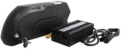 48V 14.5AH Panasonic Cell Tiger Shark Frame Case Bater/ía con Cargador 5A HYLH ebike 48V 1500W Kits de conversi/ón de la Rueda Trasera de 27.5