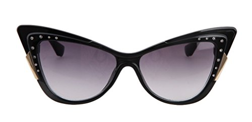 The Tidal Current Female Inlaid CZ Sunglasses Retro Cateye - Bans Fold Ray Up Aviators