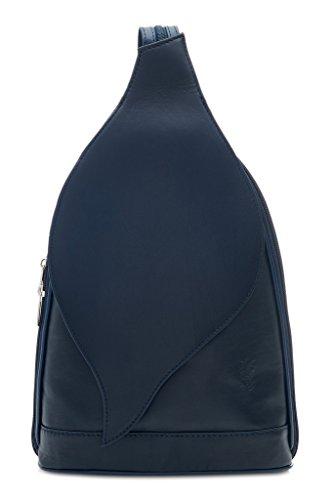 Navy Convertible Leather Backpack Ladies Amethyst Womens Pelle Vera Bag Shoulder Handbag Rucksack Retail ww7FT4q