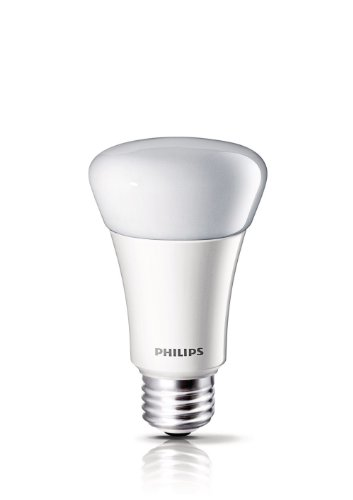 046677424374 - Philips 424374 7-Watt (40-Watt) A19 LED Household Soft White Light Bulb, Dimmable carousel main 0