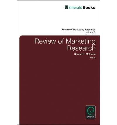 [(Review of Marketing Research: v. 5 )] [Author: Naresh Malhotra] [Nov-2008] pdf epub
