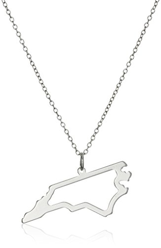 Sterling Silver North Carolina State Outline Pendant Necklace, - Nc Macys