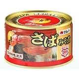 マルハニチロ さばみそ煮月花(プルトップ缶) 24入