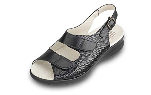 6E Oak Shoes Ladies 8E Extra Db Wide Black qdIXxwWZ