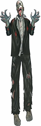 "60"" Jointed Cutout Zombie Halloween Party Prop Haunted House Decoration"