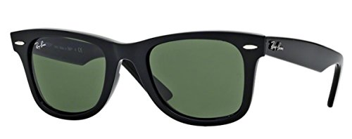 Ray-Ban RB2140 (901) Black/G-15XLT 50mm, Sunglasses Bundle with original case, cloth, booklet and accessories (6 items) ()
