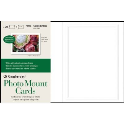 Strathmore ST105-682 Embossed Photo Mount Cards 100-Pack (Mounts Photo)
