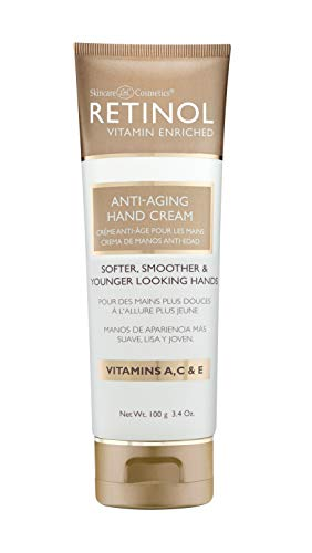 Retinol Anti-Aging Hand Cream - The Original Retinol Brand For Younger Looking Hands -Rich, Velvety Hand Cream Conditions & Protects Skin, Nails & Cuticles - Vitamin A Minimizes Age's Effect on Skin (Retinol Cream Anti Hand Aging)