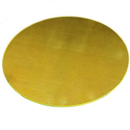 1 ChenXi Shop H62 2x50mm Placa de metal redonda lat/ón
