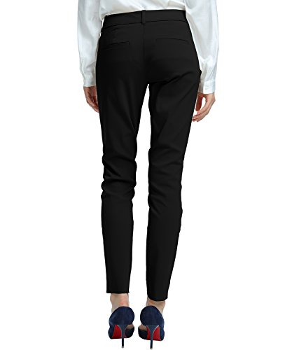 SATINATO-Womens-Straight-Pants-Stretch-Slim-Skinny-Solid-Trousers-Casual-Business-Office
