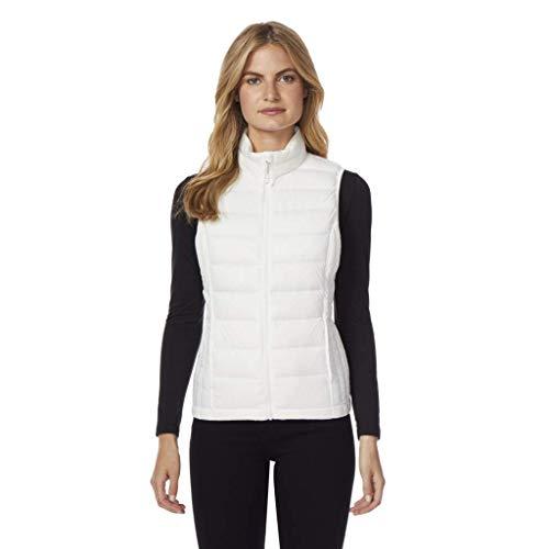 32 DEGREES Womens Ultra Light Down Packable Vest, Winter White, XXL