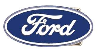 Western Express Ford Logo Pewter Belt Buckle - Ford Pewter Belt Buckle