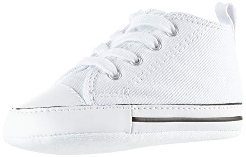 Converse Baby First Star High Top Sneaker, White, 1 M US Infant