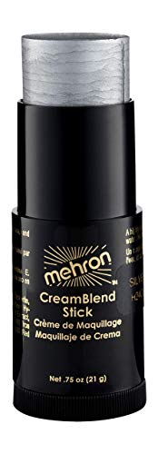 Silver Face Makeup (Mehron Makeup CreamBlend Stick (.75 oz))