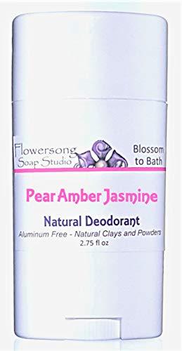 Pear Amber Jasmine Natural Deodorant - Aluminum Free