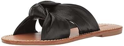 Soludos Women's Knotted Slide Sandal Flat, Black, 5 B US