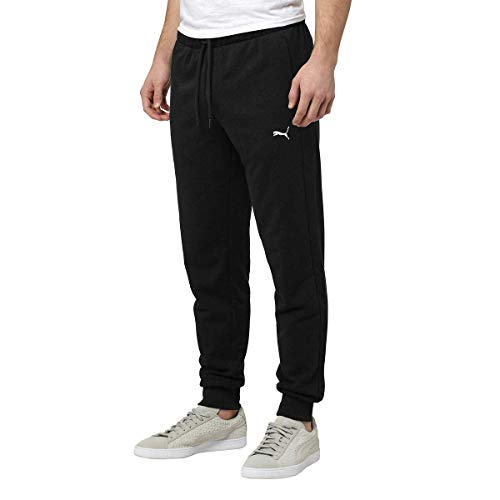 (PUMA Men's French Terry Jogger Pants (Black, Small))