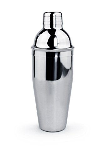 (New Star Foodservice 48414 Stainless Steel Cocktail Shaker, 25 oz, Silver )