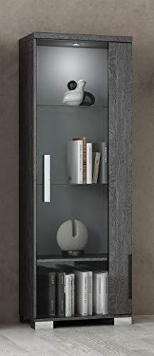 At Home USA - Sarah 1 Door Vitrine Display Cabinet, Birch - Cabinet Vitrine
