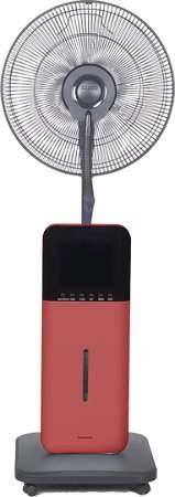 Sunheat CoolZone CZ500 Ultrasonic Dry Misting Fan With Bluetooth Technology, Red by SUNHEAT