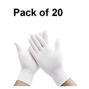 Crozier White hand gloves disposable for men ...