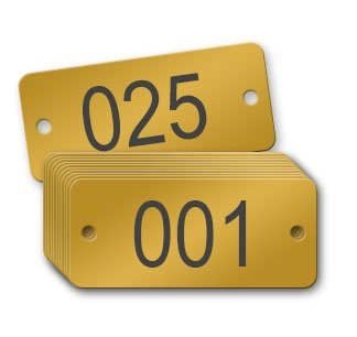 Numbered Brass Tags (Numbered 001 - 025)