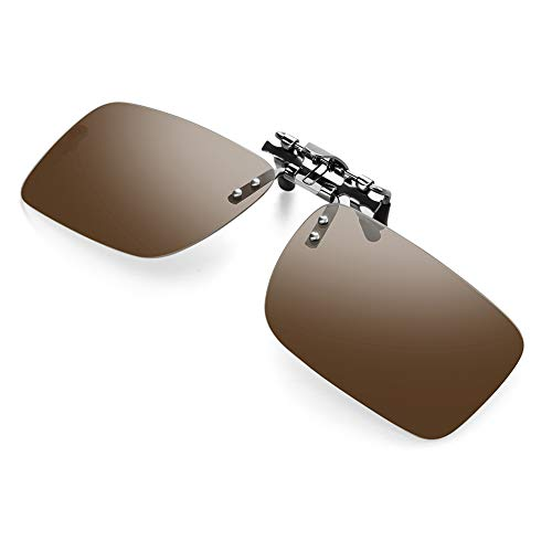 Clip-on Polarized Sunglasses For Driving - Flip Up Rimless Sunglasses for Prescription Glasses