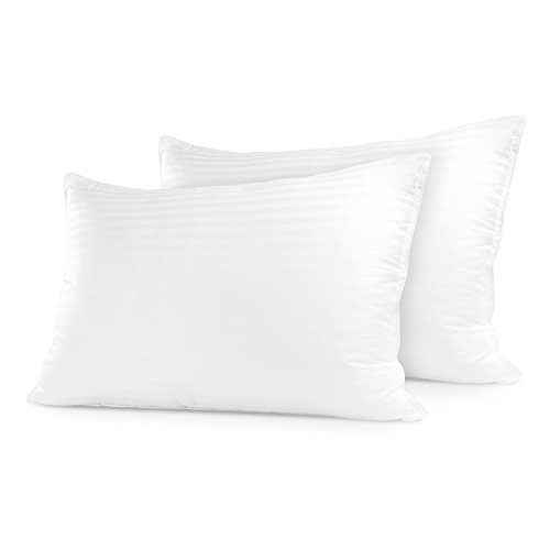 Sleep Restoration Gel Pillow - (2 Pack Standard) Best Hotel Quality Comfortable & Plush Cooling Gel Fiber Filled Pillow - Dust Mite Resistant