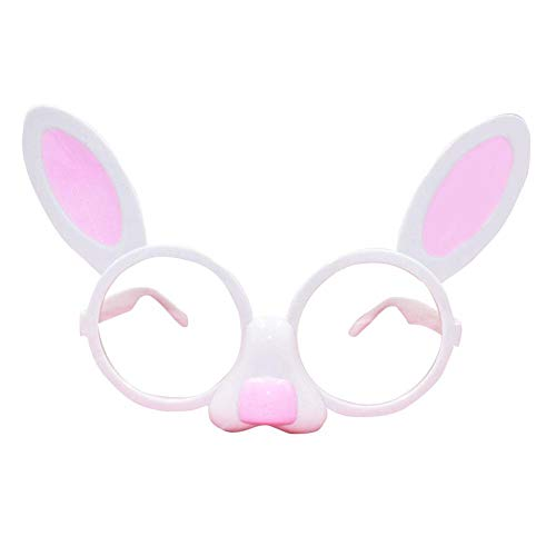 reakfaston Easter Glasses Rabbit Glasses Funny Rabbit Styling Glasses Props for Prom Birthday Party Easter Decorations