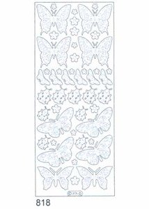 Crafts Outline Peel - Starform BUTTERFLIES GOLD N818 Peel Stickers OUTLINE