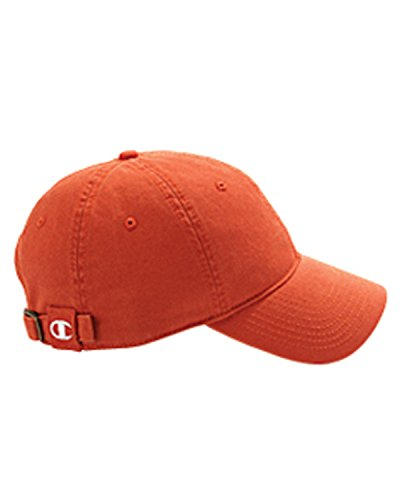Product of Brand Champion Brushed Cotton 6-Panel Cap - Orange - OS - (Instant Savings of 5% & More) -