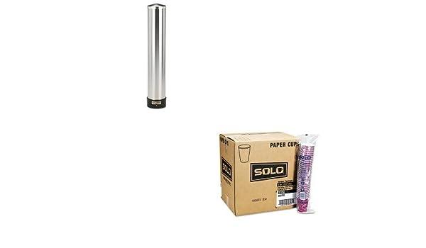 kitsjmc3400pslo370si - Value Kit - solo Bistro diseño bebida caliente tazas (slo370si) y San Jamar Dispensador de vasos de agua grande w/funda de protección ...