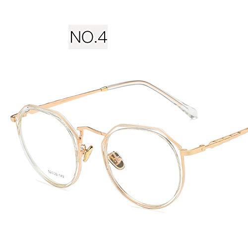 QYY Blue Light Blocking Glasses, Lightweight TR UV Protection Anti-Blue Glasses, Anti Eyestrain Transparent Lens for Computer/Cellphone Reading/Gaming,4