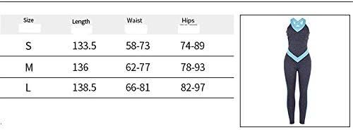 レディースジャージ上下セット レディースヨガパンツタイトバックレスヨガフィットネスジャンプスーツ (サイズ : L)